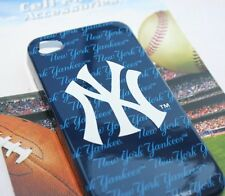 AUTHENTIC MLB NY NEW YORK YANKEES BLUE WHITE HARD CASE COVER for iPHONE 4 4G 4S