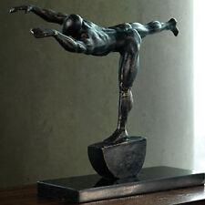 "Metal Tabletop Sculpture ""Iron Stretch"", Global Views #8.81355, 14"" x 4"" x 11.5"""