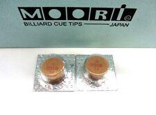 2 Moori Soft Pool Cue Tips 14mm Quantity 2 Tips