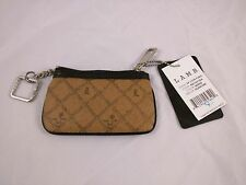 NWT L.A.M.B. Gwen Stefani Zip Signature Saddle Leather Zip Coin Purse Wallet