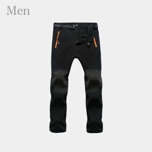 AGEKUSL Winter Cycling Pants Men Women Thermal Sports Trousers Windproof Fleece