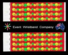 100 x Multi Colour Face Tyvek, party, security, wristbands