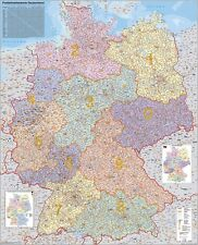 Postal code map Germany Poster 38 3/16x53 7/8in  010110B