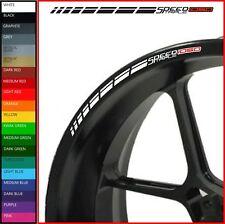 12 x Triumph Speed Triple 1050 Wheel Rim Decals Stickers - 20 colours - r rs s