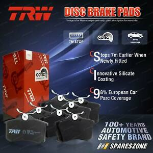 8 Pcs Front + Rear TRW Disc Brake Pads for Fiat 124S 124S 1970 - 1974