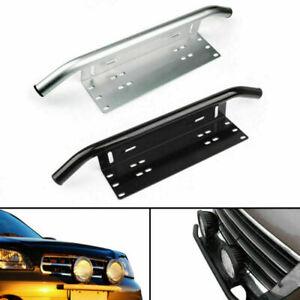 Bull Bar Style Front Bumper Fog Lights License Plate Mount Braket Holder 23'' F1
