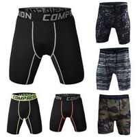 Men's Compression Fitness Tight Shorts Sports Training Stretch  Shorts