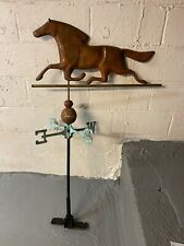 New listing Vintage Race Horse Copper & Patina Weathervane