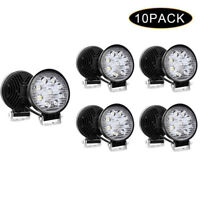 10x 27W Led Work Lights Pods Spot Offroad Fog Lamp For ATV JEEP UTE 4''Round
