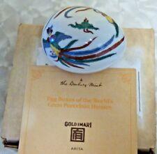 Beautiful Arita Danbury Mint Decorative Pocrelain Hand Painted Egg Box Iob