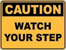 Caution Watch Your Step 5 Sticker Sign Decal Set For Public Safety WH&S OHS WHS