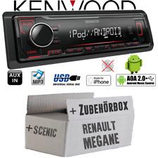 Kenwood Autoradio für Renault Megane & Scenic 2 MP3 USB iPhone Android Einbauset