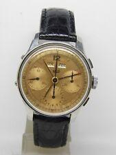 """Montre chronographe en acier """"UNIC"""" mouvement Valjoux 72c Vintage chrono"""