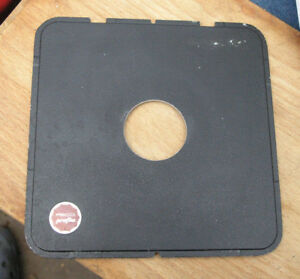later 5x4 10 x 8 plaubel peco etc flat lensboard  compur copal 1 42mm hole