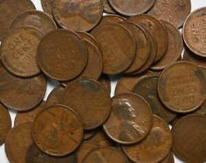1926 P Roll of 50 Lincoln Wheat Pennies ~ No Culls