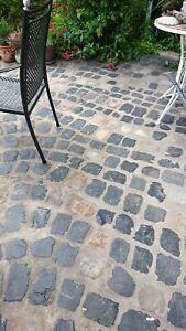 250 Pflastersteine gemischt - Altstadtpflaster - Blaubasalt, Sandstein, Granit