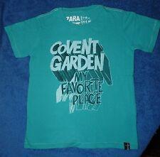 T-shirt vert Covent Garden pour garçon Zara Boys 4-5 ans 110 cm - TBE