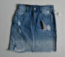 New Buffalo Light Wash Women's Size 26 Pearl Ivy High Rise Distress Denim Skirt
