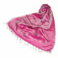 Womens Long Silk Scarf Ladies Beautiful Silk Paisley Scarves Girls Fashion Shawl