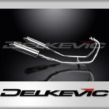 """Kawasaki GPZ500S EX500 Full 2-2 Exhaust 14"""" Stainless Muffler 87-05 06 07 08 09"""