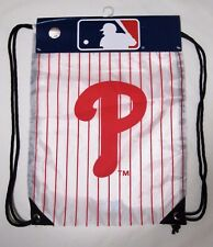 Philadelphia Phillies MLB Keeper Knapsack Backpack White With Red Pinstripe NOS