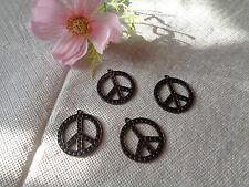 """4 Anhänger """"Peace"""" Modeschmuck Basteln"""