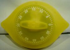 Vintage Yellow Mechanical Timer Kitchen Timer Magnetic