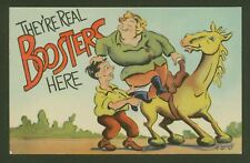 They're real Boosters here! - Vintage Postcard Humour from the USA