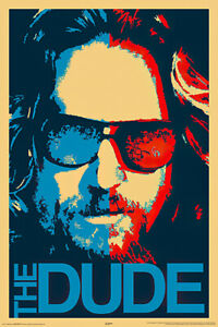 "The Big Lebowski - Movie Poster / Print (The Dude Pop-Art) (Size: 24"" X 36"")"