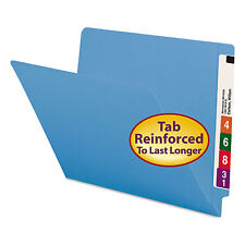 Smead Colored File Folders Straight Cut Reinforced End Tab Letter Blue 100/Box