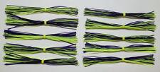 10 Custom Made Silicone Spinnerbait Skirts(Chart/Purple)Bass Fishing-Fishing-NEW