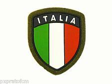 Scudetto Bandiera Italia Verde Patch Toppa per Mimetica Vegetata Militare in PVC