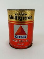 Vintage Citgo Cardboard 1 Quart Oil Can
