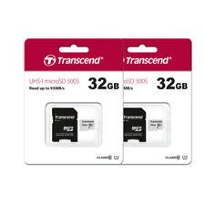2 x Transcend 32GB Micro SD Memory Card for Samsung S9, S8, S7, S10, S10+