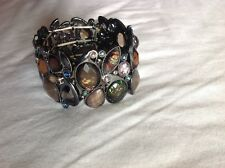 Costume Jewellery Bracelet - brown Green and copper stones