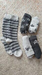 5 Kinder Jungen Socken Kniestrümpfe*Tacco*Größe 27-30*Baumwolle*Grau*NEU