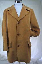 Vintage Brown Corduroy Ranch Cowboy Coat 44 Tall Hip Classic Warm Jacket 70s