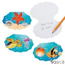 12 Sea Life Ocean Luau NotePads Memo Notebooks Kids Birthday Party Favors Gifts