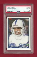 1991 TOPPS #334 JESSIE HESTER PSA 9 MINT POP 1 INDIANAPOLIS COLTS