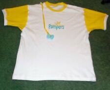 """Adult Baby Embroidered Diaper Shirt Pampers Logo 40"""" Chest"""