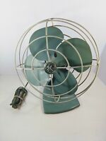 General Electric Vintage Teal Personal Desk Fan  Original Cord F15S107