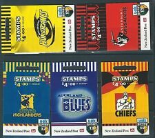 Nueva Zelanda 1999 Rugby Super 12 Conjunto de 5 folletos de menta