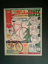 1962 Schwinn Continental~Typhoon~Racer~Varsity~Corvette Bicycles Bike Trade AD