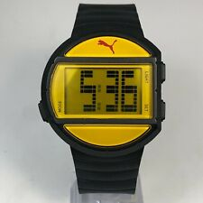 Puma Mens Yellow Multifunction Easy To Read Oversize Digital Quartz Wristwatch