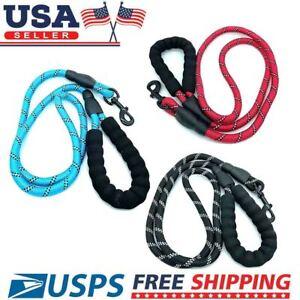 5 FT Dog Leash Heavy-duty Reflective Rope for Large Medium Dogs Training Walking
