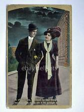 Th E.L. Theochrom 1075 FlatIron old postcard vecchia cartolina lovers USA 1900