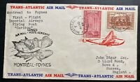 1939 Montreal Canada First Flight Airmail Cover FFC to Hove England Imperial