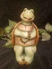 Turtle Hand Painted Ceramic Glazed For Yard Garden Home Interior