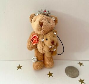 **MOTHER +BABY TEDDY BEARs** for Keyring or BAG TAG *GORGEOUS! *GREAT GIFT*7.5cm
