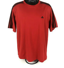 Adidas Men's Thermo System (Ats Dry) Red with Black Stripes Shirt Size Xl